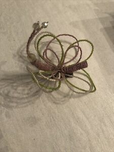 Beaded Butterfly Decorative Clip