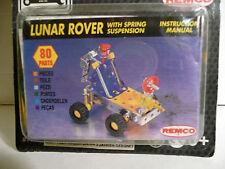 "Brand New Remco ""STEEL TEC"" (Meccano Like) Construction Set LUNAR ROVER 80-Piece"