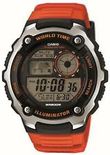 Casio Digital Armbanduhr AE-2100W-4AVEF Digital Uhr orange schwarz