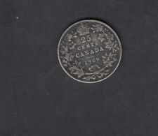 1909 CANADA SILVER 25 CENTS