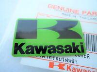 KAWASAKI 'K' GREEN & BLACK STICKER BADGE FAIRING EMBLEM 42mm x 24mm **UK STOCK**