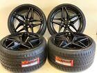 20 Chevy Corvette Zr1 Z06 Zo6 Zl1 Black 5x120 Rims Tires Wheels Fit Camaro Ss