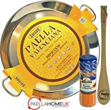STAINLESS STEEL PAELLA PAN 50cm INDUCTION & VITROCERAMIC + SPOON + PAELLA GIFT