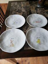 New Rae Dunn Melamine Easter Plates Set Of 4