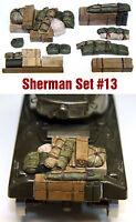 WWII accesorios sherman diorama RESINA motor cubierta 1/35 tanque carro estiba
