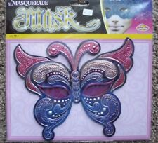PINK / PURPLE BUTTERFLY MASQUERADE MASK.