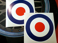 RAF ROUNDELS Van Car Scooter Mods Stickers Decals 2 off 100mm