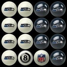 NFL Seattle Seahawks Pool Ball Billiards Balls Set w/ FREE Shipping