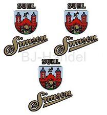 Klebefolie für Simson SR2 Aufkleber Satz 3x Suhler Wappen mit 3x Simson