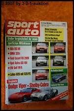 Sport Auto 6/92 Dodge Viper Shelby Cobra Lotec 928