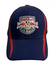 adidas MLS New York Red Bull Ball Cap FlexFit Hat  Men S M Climalite Blue