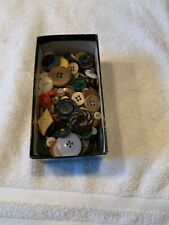 Lot Of Buttons Old-Vintage Assorted Colors Sizes Designs Mixed Crafts Sewing