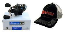 BUNDLE - QUANTUM SMOKE INSHORE SL100HPTSA 7.3:1 RIGHT HAND BAITCAST REEL + HAT