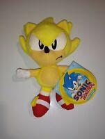 """Sonic the Hedgehog ~ 7"""" SUPER SONIC PLUSH FIGURE Official JAKKS Pacific Plushy"""