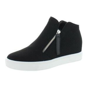Steve Madden Womens Click Black Wedge Heels Shoes 8 Medium (B,M) BHFO 0249