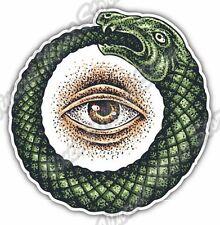 "Ouroboros Occult Masonic Eye Providence Snake Bumper Vinyl Sticker Decal 4.6"""