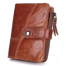 Mens Leather Wallet Bifold Vintage Purse Business Credit Card Holder wi