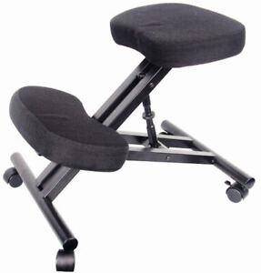 Kniestuhl mit Rollen - höhenverstellbar - Knie Hocker Bürostuhl Computer Stuhl