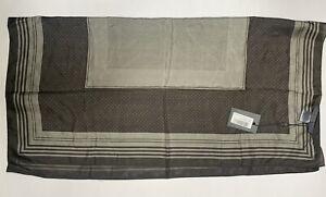 "New John Varvatos Unisex Bandana Scarf Olive Green 100% Silk Pocket Square 26"""