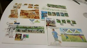 1995 NEW ZEALAND NZ FDC COVERS x8 GOLF,FARM ANIMALS,HEALTH,RUGBY, ENVIRONMENT