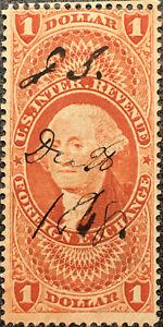 Scott #R68 US 1862 1 Dollar Revenue Foreign Exchange Stamp