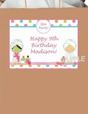 18 Personalized Spa Party Stickers,Birthday bag labels favors decorations supply