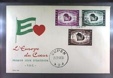 Belgium 1959 FDC 1143-45 Union Europa Cept Europarat