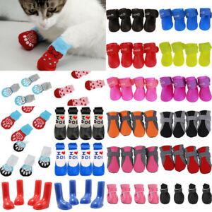 Pet Cat Dog Non-Slip Socks Shoes Paw Protection/Waterproof Rain Booties Wellies