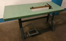 Vintage Singer Industrial Sewing Machine K Leg Table And Top Our 3