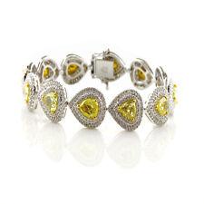 Gelb Diamanten - Armband 11.04ct Natürlich Kostüm Gelb 18K 30 Gramm Birne Form