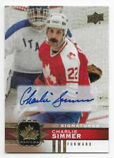 17/18 UPPER DECK TEAM CANADA GOLD AUTOGRAPH Hockey (#1-100) U-Pick From List