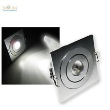 5er SET ALUMINIUM LED-Einbaustrahler pur-weiß 3W 12V DC Einbauleuchte kaltweiß