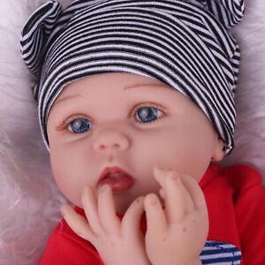 22'' Lifelike Handmade Reborn Dolls Baby Newborn Soft Vinyl Silicone Xmas Gift