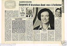 Coupure de Presse Clipping 1979 (2 pages) Des Chiffres et des Lettres