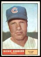 1961 Topps Set Break EX Richie Ashburn Chicago Cubs #88