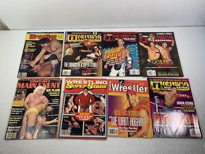 WWE Vintage Magazine Lot of 8 Pro Wrestling Illustrated Variety WWF WCW Hogan