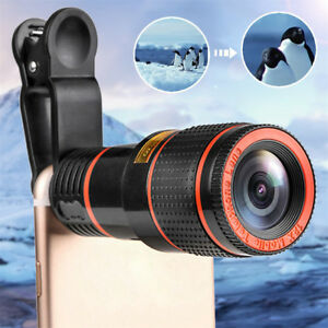 HD 12x Optical Zoom Camera Telescope Lens With Clip For iPhone/Phone Universal