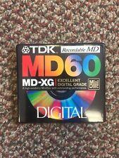TDK MD60 MD-XG Mini Disc