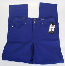 Women's Jones New York Lexington Straight Denim Jeans Pants Blue Size 8 Short