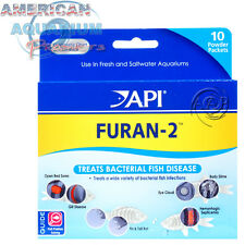 AQUARIUM PHARMACEUTICALS API/AAP FURAN 2 (Nitrofurazone), POWDER 10 PACK; FRESH!