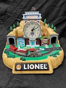 VINTAGE 2000 LIONEL TRAINS 100th Anniversary Animated Alarm Clock Nib