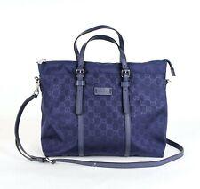 Gucci Unisex Dark Blue Guccissima Nylon Tote Crossbody Messenger Bag 510332 4275