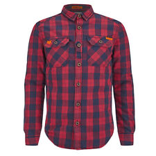 SUPERDRY MENS ROOKIE FLANNEL SHIRT. BNWT. SIZE SMALL. COLOUR. BRUSWICK RED CHECK