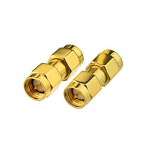 2X SMA Male to SMA Male Plug Adapter Connector For Broadcast FM Band Stop Filter