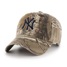 NY YANKEES  ADULT 47 BRAND REALTREE CAMO CLEAN UP/DAD HAT NEW & LICENSED