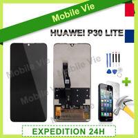 VITRE TACTILE + ECRAN LCD PRET-A-MONTER POUR HUAWEI P30 LITE NOIR + FILM/OUTILS