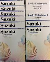 Suzuki Violin School Volume 1-10 Complete Set Book/CD FREE SHIPPING
