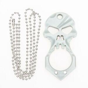 Stainless Skull EDC Survival Pocket Tool Key Ring Pendant Chain
