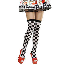 CHECKERED OVER THE KNEE THIGH HIGH TIGHTS PANTYHOSE LADIES  70 DEN HARLEQUIN