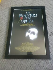 The Phantom of the Opera Broadway Show Poster with Frame